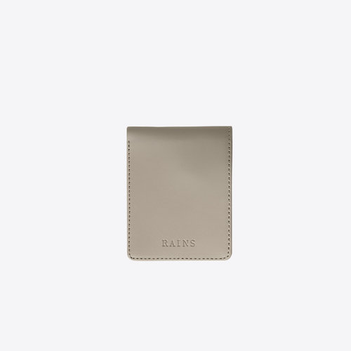 Rains Folded Wallet Taupe Portefeuille