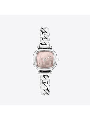 Komono Moneypenny Revolt Silver Blush Watch