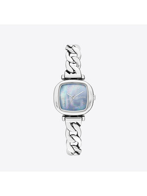 Komono Moneypenny Revolt Silver Light Blue Horloge