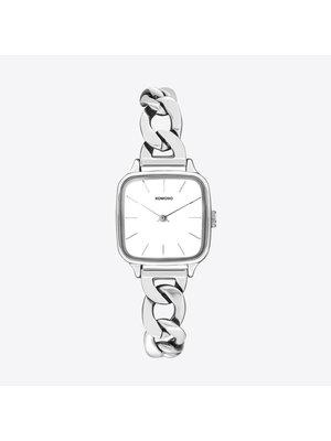 Komono Kate Revolt Silver White Watch