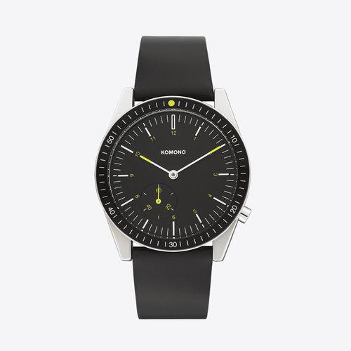 Komono Ray Legacy Leather Black Horloge