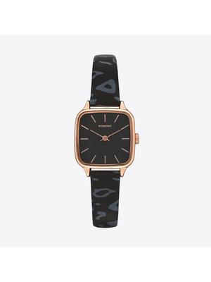 Komono Kate Animal Black Horloge