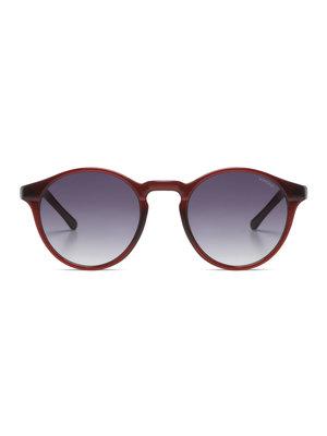 Komono Devon Burgundy Sunglasses