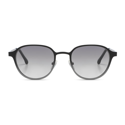 Komono Levi Black Silver Gradient Sunglasses