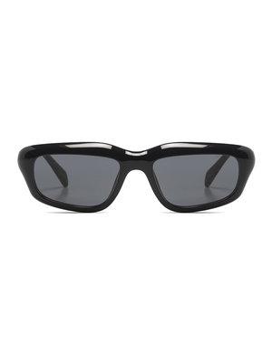Komono Matt Black Tortoise Sunglasses