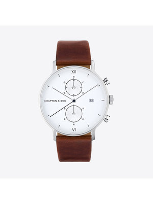Kapten and Son Chrono Brown Leather Horloge