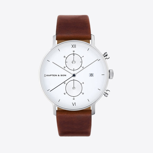 Kapten and Son Chrono Brown Leather
