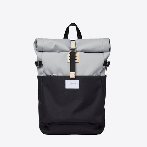 Sandqvist Ilon Grey Black Backpack