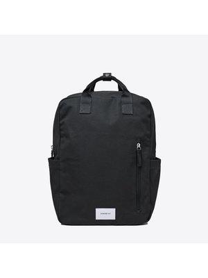 Sandqvist Knut Black Backpack