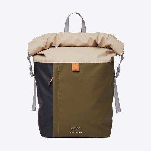 Sandqvist Konrad Beige Olive Backpack