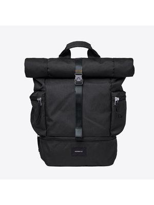 Sandqvist Verner 2.0 Black Backpack