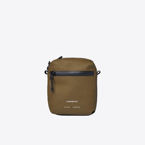Sandqvist Poe Olive  Shoulder Bag