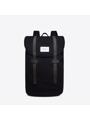 Sandqvist Stig Large Black Backpack
