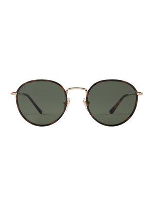Kapten and Son London Gold Tortoise Green Sunglasses