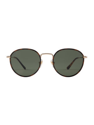 Kapten and Son London Gold Tortoise Green Zonnebril