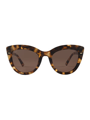 Kapten and Son Sofia Amber Tortoise Brown Sunglasses