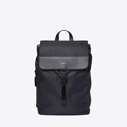 Sandqvist Alva Nylon Black Backpack