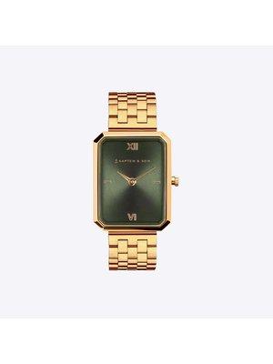 Kapten and Son Grace Gold Green Steel Horloge
