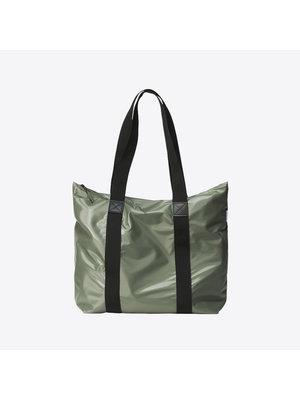Rains Tote Bag Rush Shiny Olive