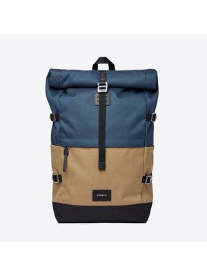 Sandqvist Bernt Steel Blue Bronze Backpack