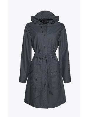 Rains Belt Jacket Slate Raincoat