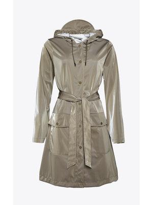 Rains Belt Jacket Velvet Taupe Impermeabile