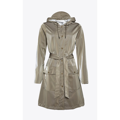 Rains Belt Jacket Velvet Taupe Regenjas