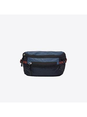 Sandqvist Lo Steel Blue Black Bum Bag