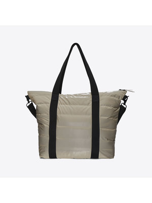 Rains Tote Bag Quilted Velvet Taupe