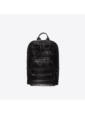Rains Base Bag Mini Quilted Velvet Black Rugzak