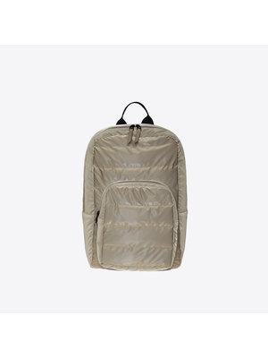 Rains Base Bag Mini Quilted Velvet Taupe Backpack