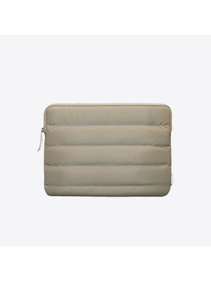 Rains Laptop Cover Quilted Velvet Taupe 13 inch Laptophoes