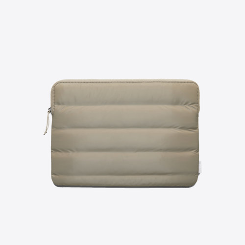 Rains Laptop Cover Quilted Velvet Taupe 13 inch