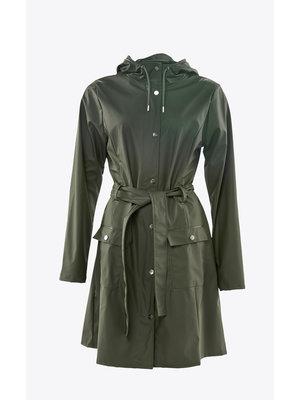 Rains Curve Jacket Green Regenjas