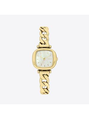 Komono Moneypenny Revolt Gold White Watch