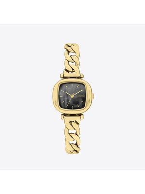 Komono Moneypenny Revolt Gold Black Horloge