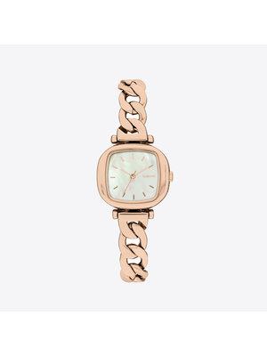 Komono Moneypenny Revolt Rose Gold White Horloge