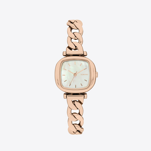 Komono Moneypenny Revolt Rose Gold White Watch