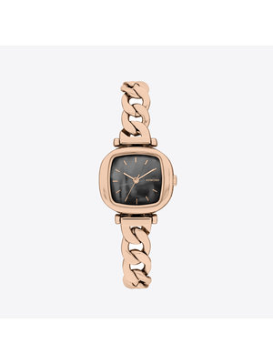 Komono Moneypenny Revolt Rose Gold Black Watch