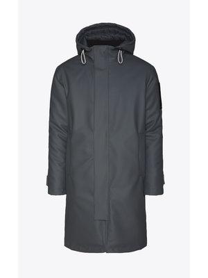 Rains Glacial Coat Slate Frakke
