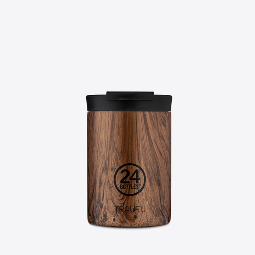 24Bottles Sequoia Wood Travel Tumbler Termos 350ml