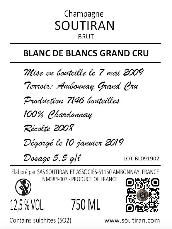 Soutiran Cuvee Blanc de Blancs Grand Cru Brut-2
