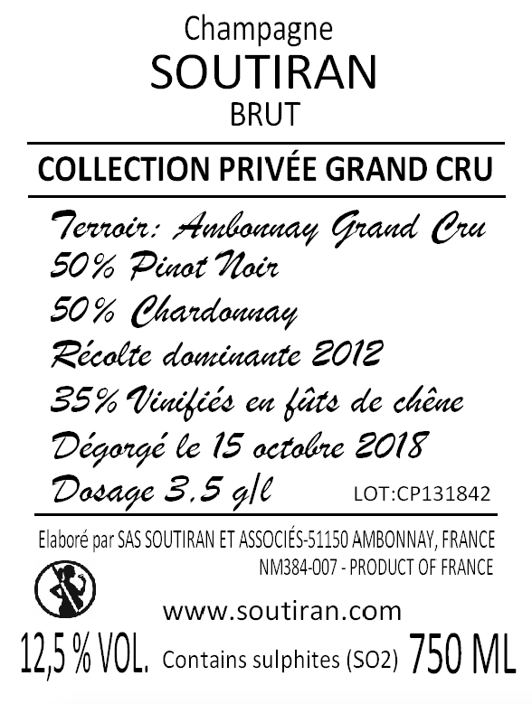 Soutiran Cuvee Collection Privee Grand Cru Brut-2