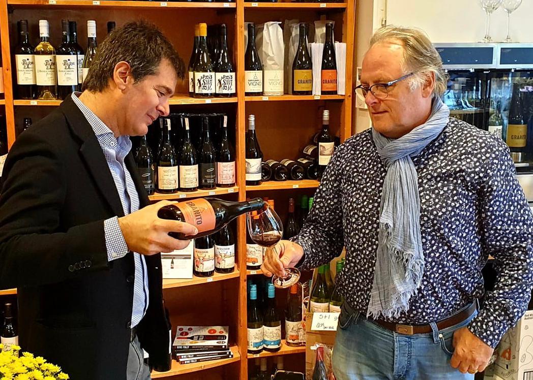 Julio Bouchon op bezoek in onze winkel