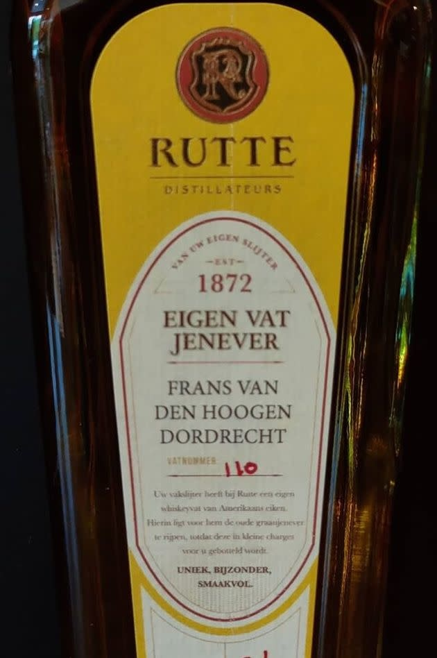 Rutte Eigen vat Jenever Vatnummer 110-1