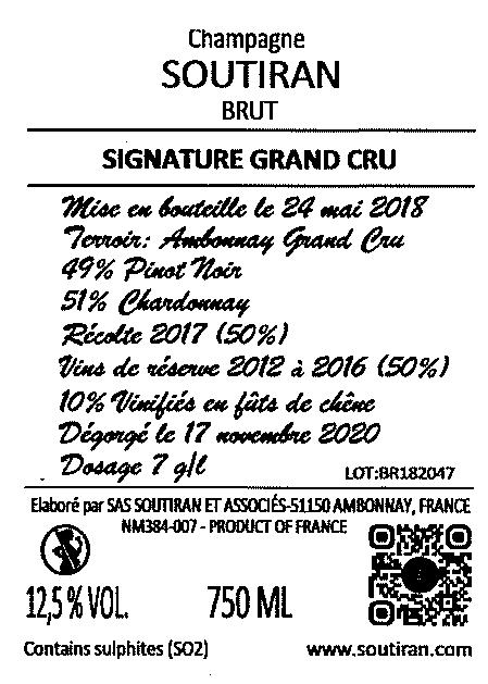 Champagne Soutiran Brut Grand Cru Signature-2