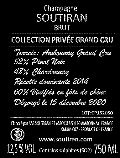 Soutiran Cuvee Collection Privee Grand Cru Brut-3