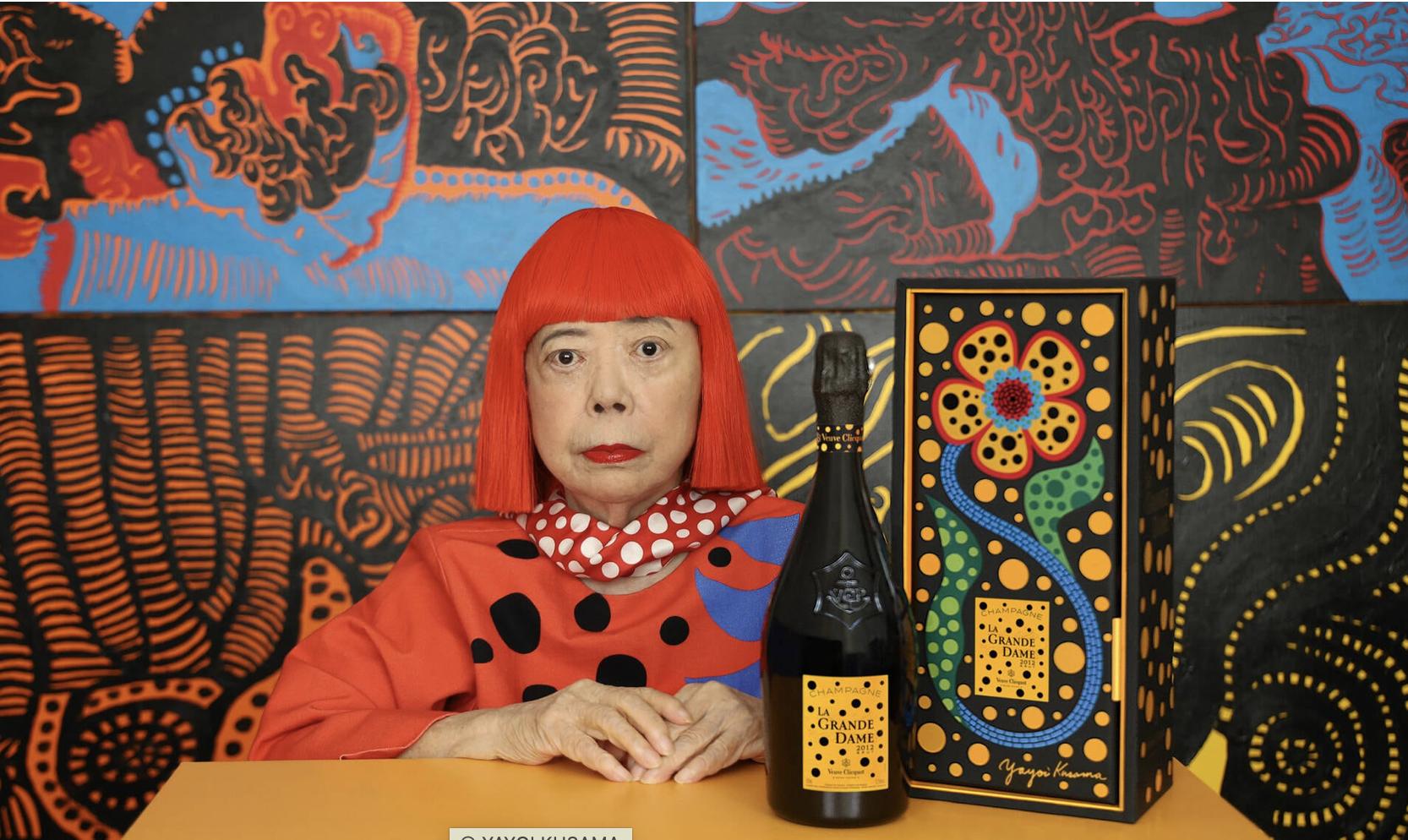 Yayoi Kusama voor Vve Clicquot Grande Dame 2012