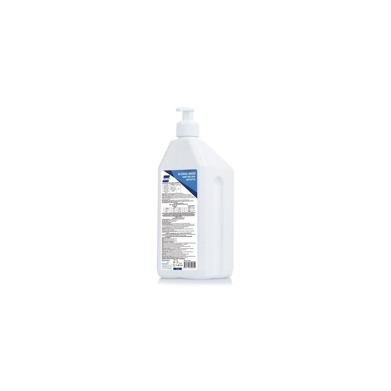 Konix Antibacteriële liquid 1000ml 70% alcohol incl. pomp-1