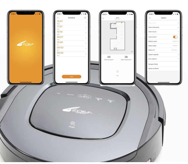 Zoef Robot vacuum cleaner with mop Sjaan